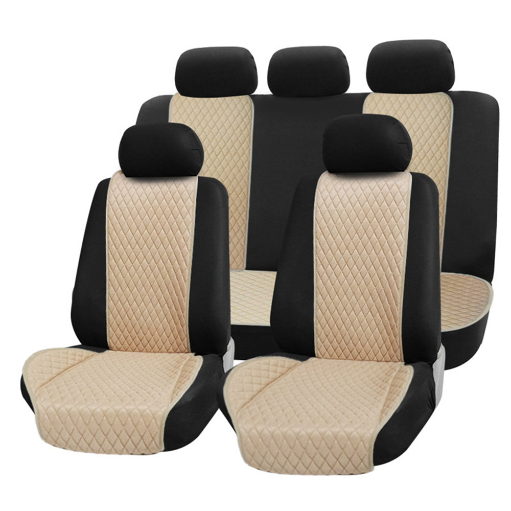 Four seasons comfortable universal car seats covers for lada Hyund jeep Toyota BMW Mazda KIA Ford Audi easy disassemble cleaning title=