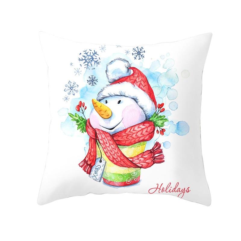 Luxury Christmas Cushion Pillow 44cmx44cm Santa Design Xmas Cushion
