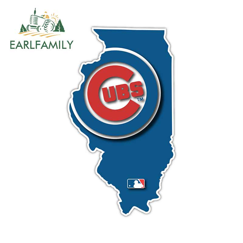 Chicago Cubs Glow Logo Vinyl Sticker Decal *SIZES* Large Cornhole Wall Bumper