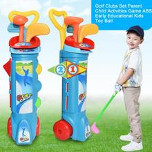 Toy Game Golf-Clubs-Set Exercise Child Kids Mini Parent Activities Gift ABS Fitness Early-Educational