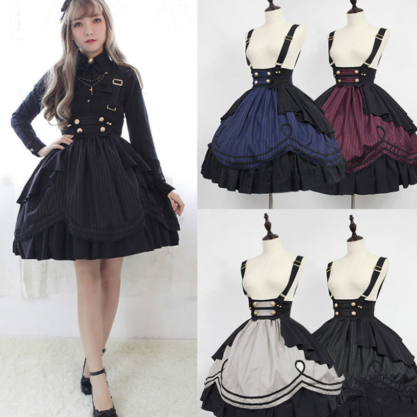 Halloween-Costume Medieval-Dress Anime Cosplay Carnival Vestidos Girls Gothic Women Kawaii title=