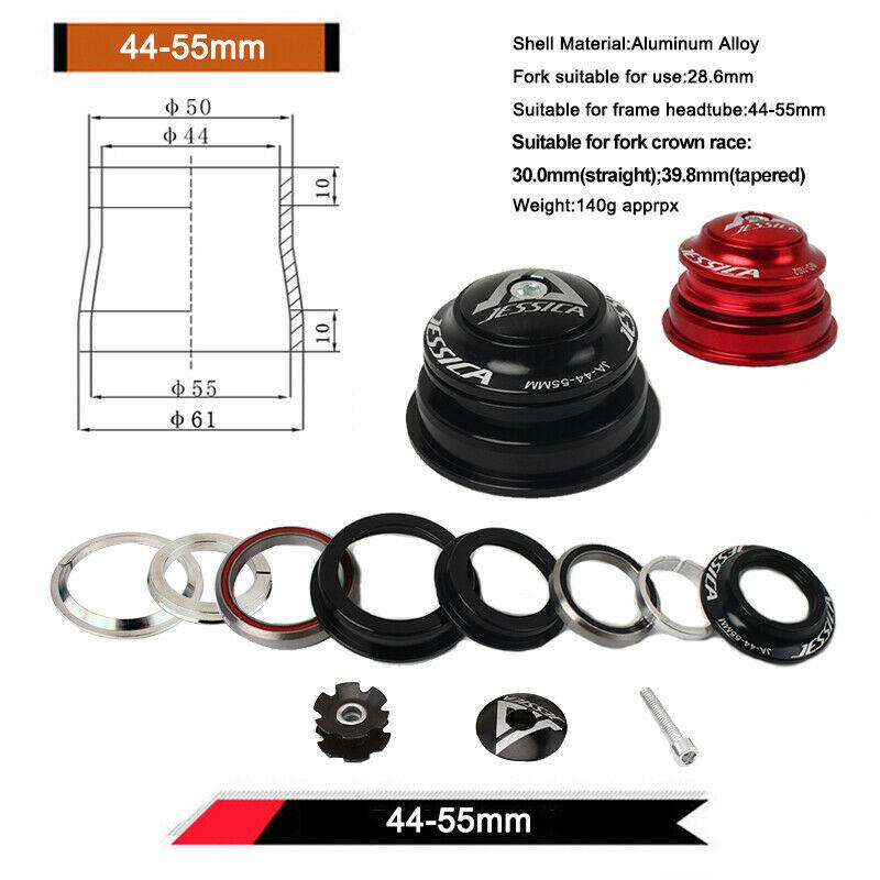 JESSICA MTB Bike Headset Sealed Bearing For Straight//Tapered Tube Frame Headsets