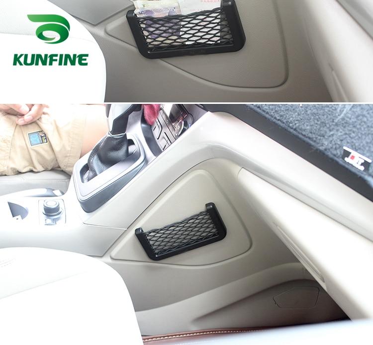 Car Multifunctional Phone Storage Net String Bag Phone Holder Ticket Pocket H