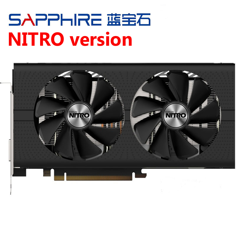 rx 570 sapphire nitro Graphics Card pc gaming computer GDDR5 For AMD Radeon RX570 4GB Video Cards placa de video gpu DVI Used
