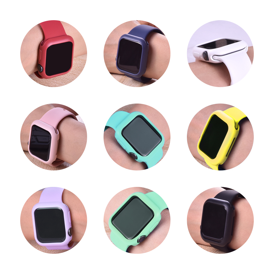 Candy Color Soft TPU Case for Apple Watch SE 6/5/4/3/2/1 38MM 40MM Protective Case  for iwatch Series 42MM 44MM Watch Case