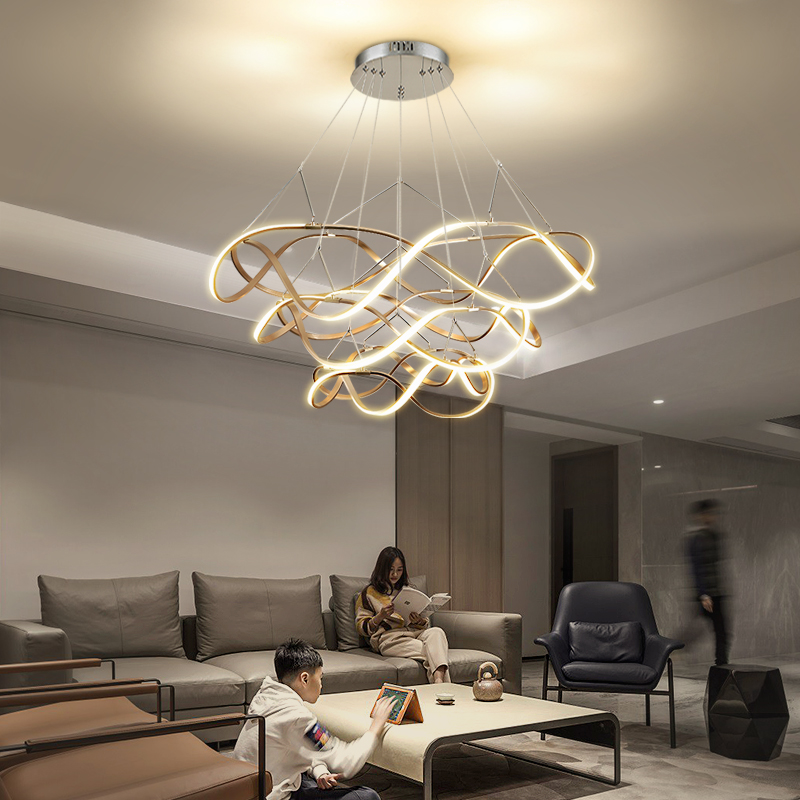 Lustres LED Ceiling Chandelier light lamp For Living Room Bedroom modern LED Large Chandelier Lighting Fixtures AC85-260V Gold