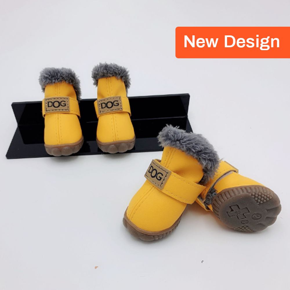 ULTECHNOVO Dog Snow Boots Breathable Pet Short Boots Antiskid Waterproof Winter Dog Shoes Warm Snowshoes Outdoors Dog Paw Protectors for Puppy Small Dog