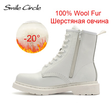 Winter Shoes Motorcycle-Boots Boots Women Punk Female Natural Autumn White Genuine-Leather