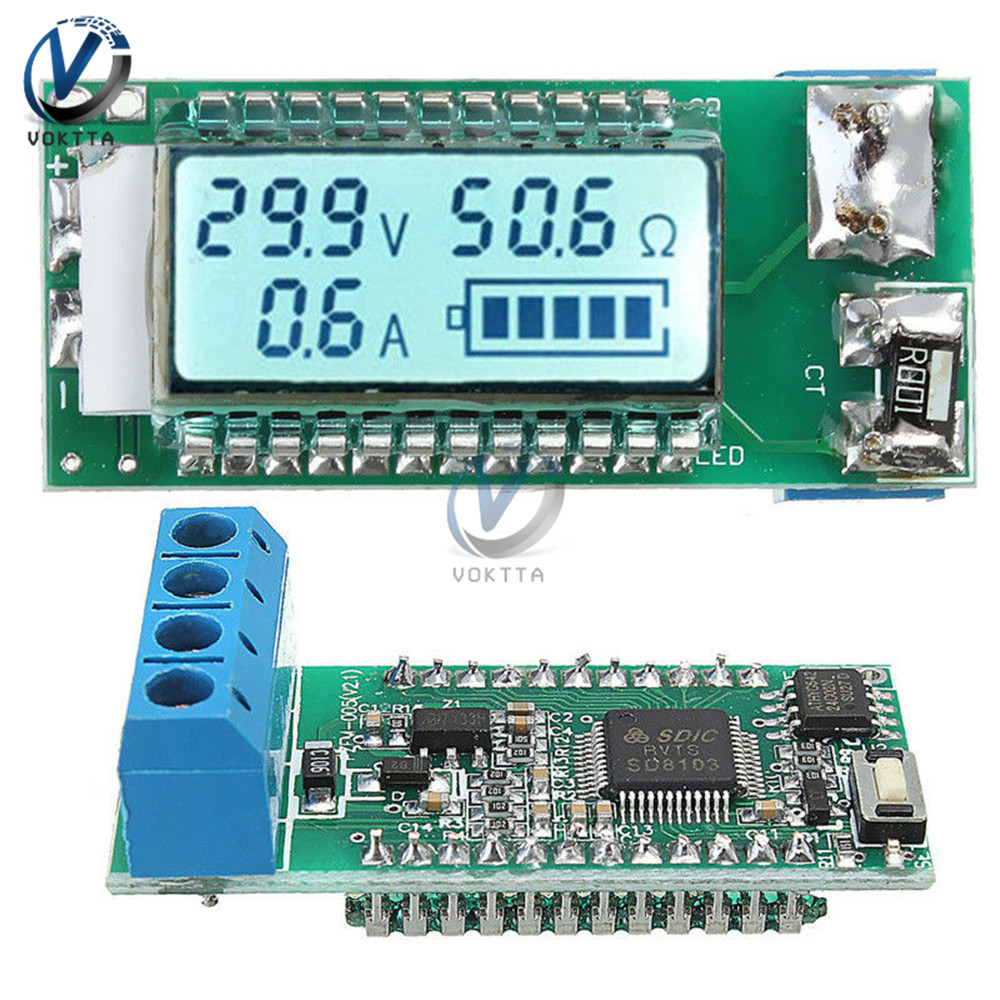 18650//26650 Lithium Batterie Li-Ion LCD Capacité Courant Meter Testeur Avec Étui