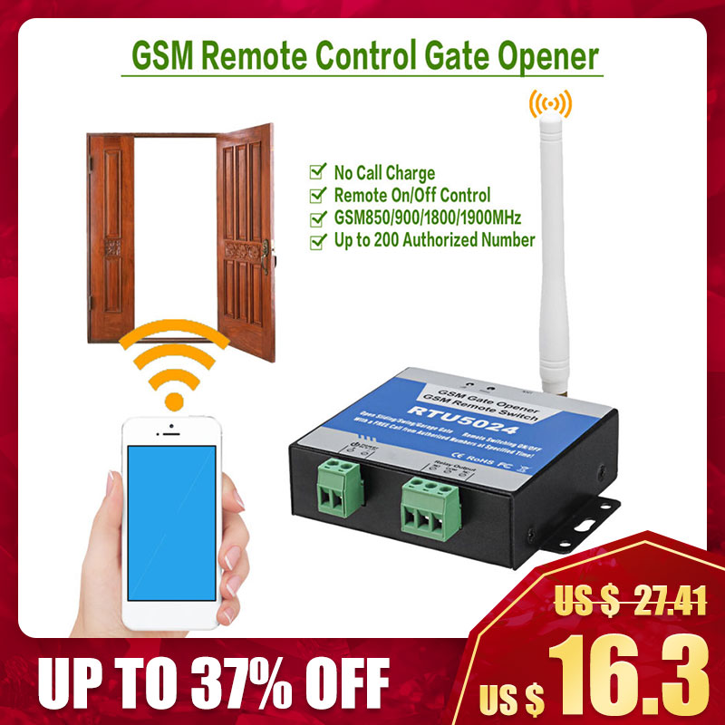 Relay-Switch Gate-Opener Remote-Control Door-Access Free-Call RTU5024 GSM Wireless by title=