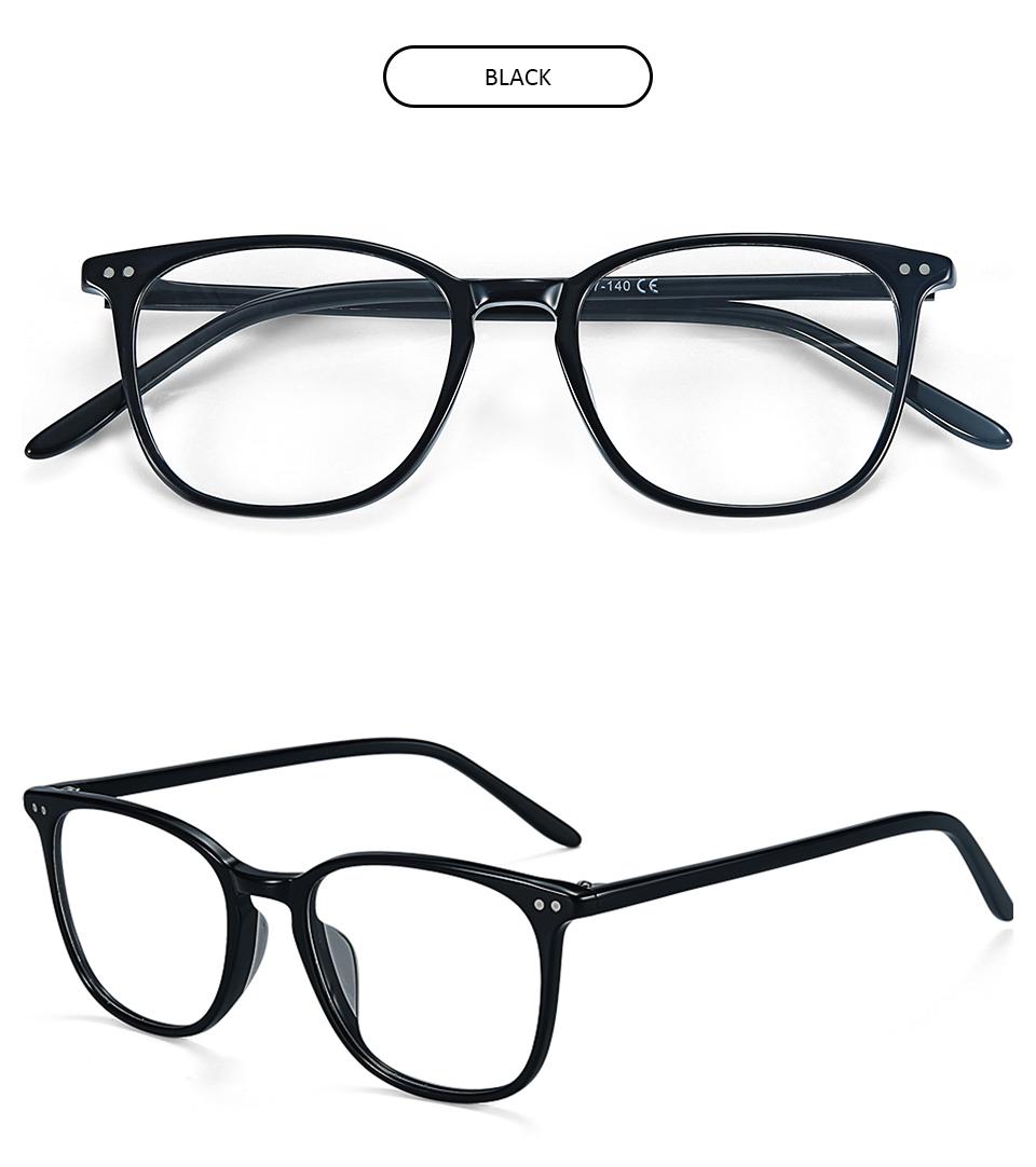 ZENOTTIC Transparent Glasses Frame Men Prescription Glasses Lenses Acetate Glasses Man Frames Optical Myopia Eyeglasses (8)