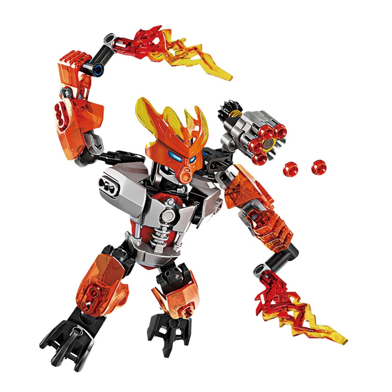 Bionicle Figures KSZ706-6 Stone Mata Nui Toa Fire Movie Blocks Air Kids Ice BIONICLE Big Size Toys For Children Bricks Boys Kits