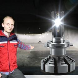 HLXG H7 LED H4 Lumileds Luxeon ZES Автомобильные Светодиодные Лампы Головного Света H1 LED H11 H8 HB3 9005 HB4 Ближний Свет Дальний Протифотуманные Фары 6500К 4300К 5000К 12...