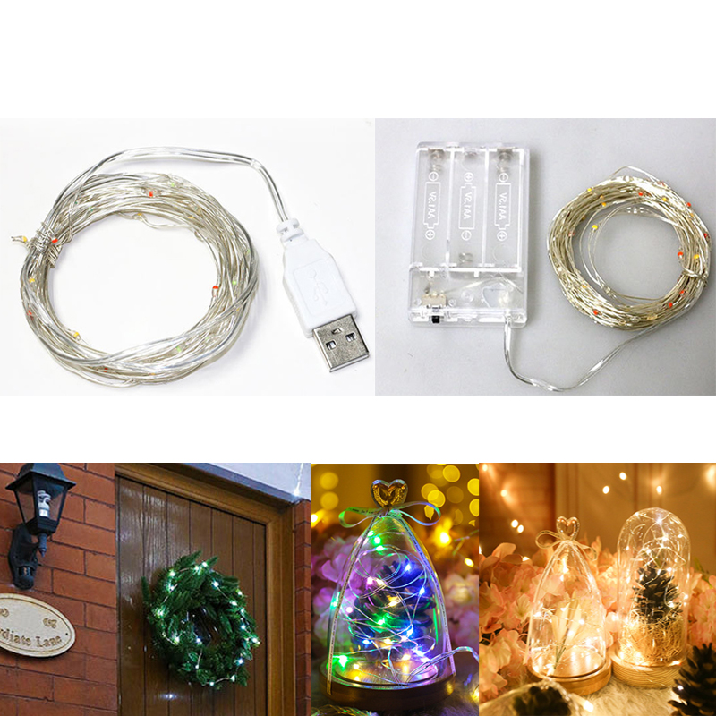 5/10M Copper Wire LED String Lights Fairy Lights Waterproof Christmas Garland For New Year Wedding Holiday Party Decoration