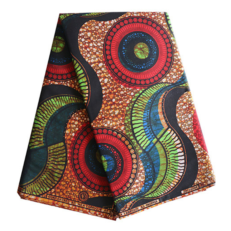 Wax Print-Fabric African Ankara Veritable 6yards Lot New-Fashion 100%Cotton title=