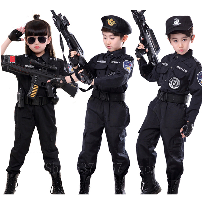 Cool Kid Boys Army Soldier Costume Uniform Child Party Fancy Dress Costume