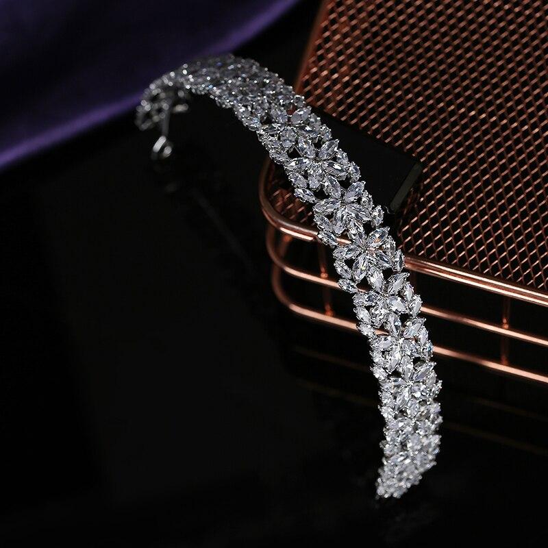 Tiaras and Crown HADIYANA Trendy Elegant Women Wedding Party Hair Accessories Jewelry Crown Zircon BC5798 Corona Princesa