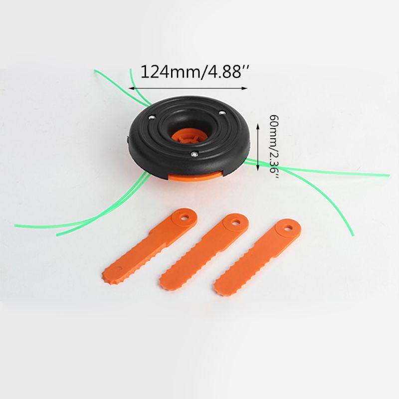 Tête de coupe gazon mixte pour épareuse à fils et lames plastiques