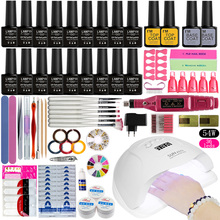 Nail-Set Machine-Tools Varnish Led-Lamp Manicure Soak-Off-Gel 18pcs-Gel 54W UV for Dryer