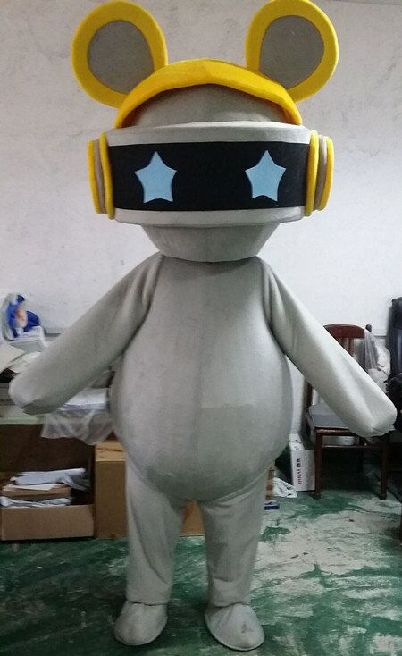 Robot Mascot Costume Alienware Halloween Party Fancy Dress Adult Outfit