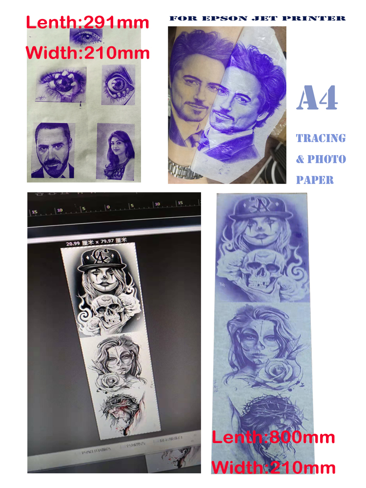 tattoo stencil & transfer tracing paper(A4 size,800mm Size) 5
