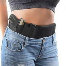 Tactical Belly Gun Holster Invisible Belt Bag Concealed Carry Elastic Girdle Waist Pistol Case for Glock Phone Hunting Magazine