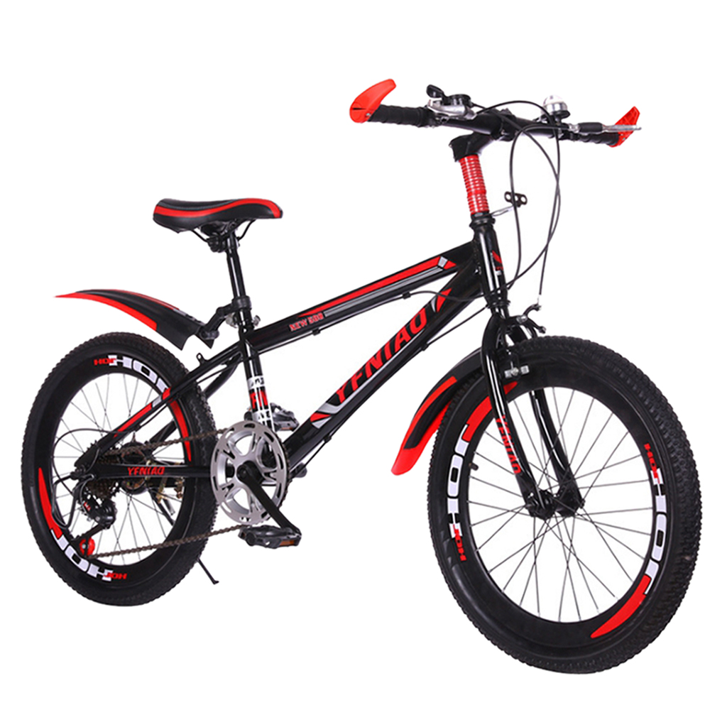 Children Kids Mountain Bikes w/ Mudguard Lightweight Wind-breaking Frame 22 inch Students Bicycle for Easy Relaxed Riding School