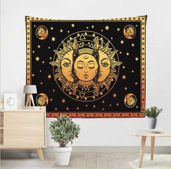 Mandala Tapestry Indian Tai Chi Hippie Bohemian Sun Province Moon Decoration Wall Hanging Carpet Yoga Mat Bedroom Art