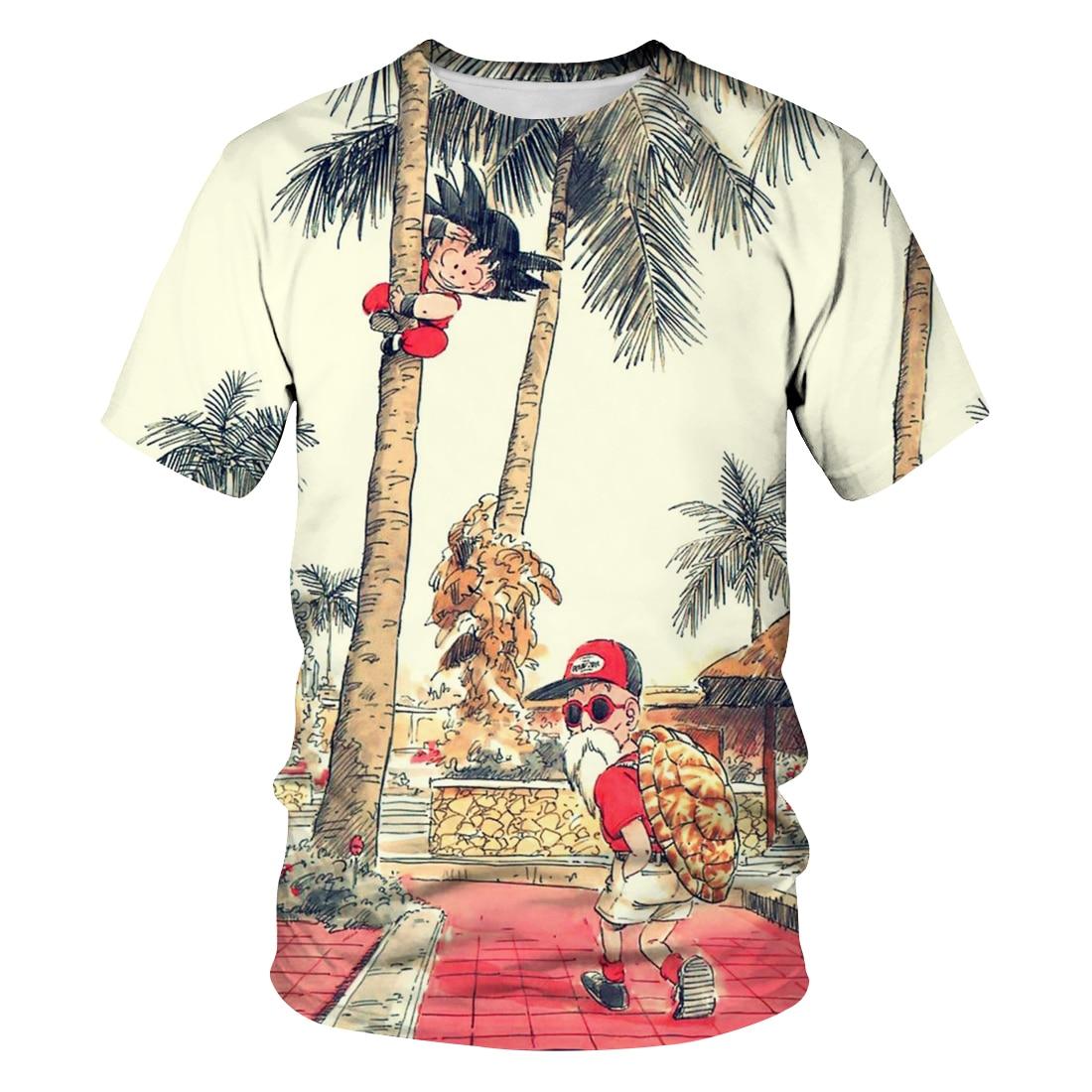 2020 hot new men and women 3D anime dragon ball printed short sleeve T-shirt tops