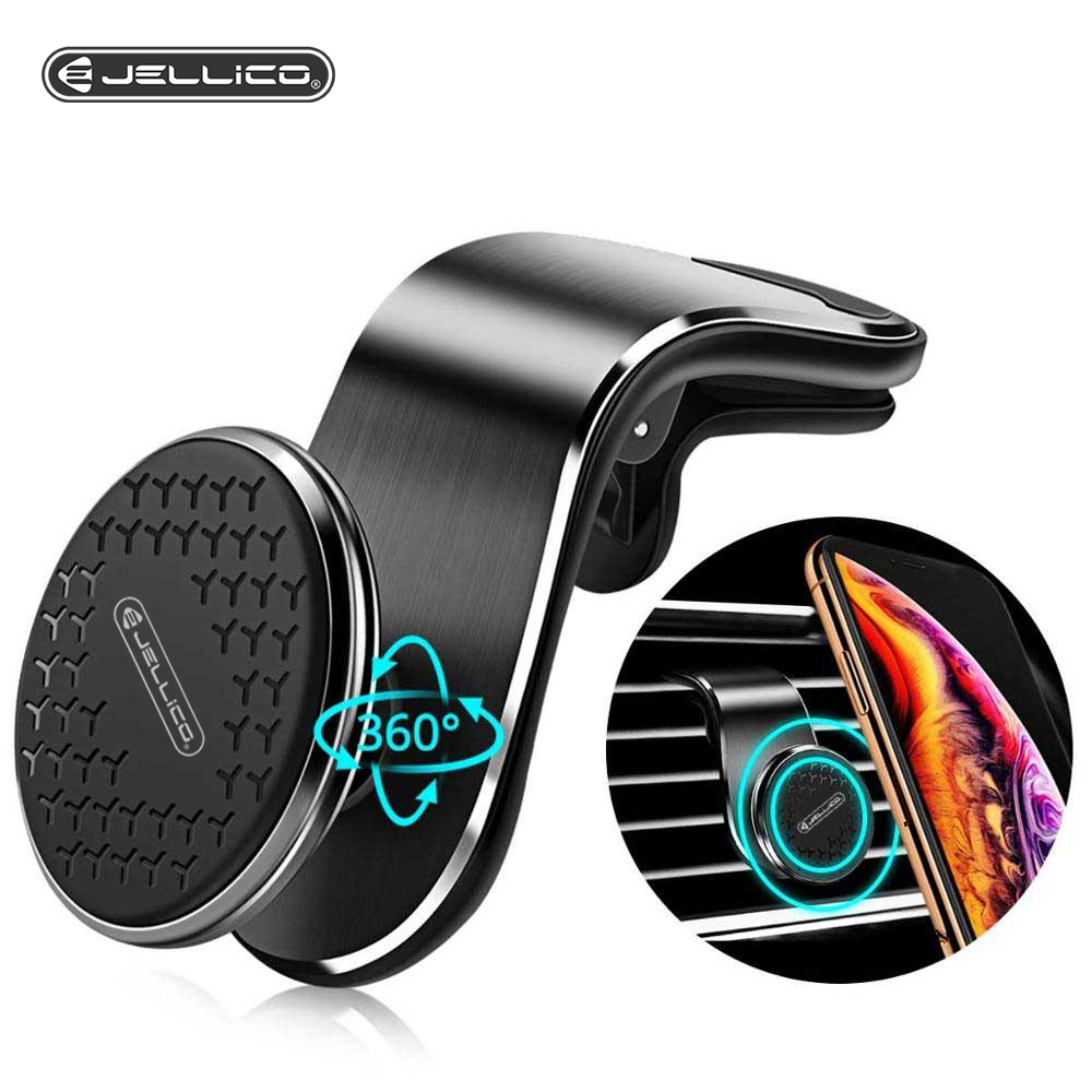Jellico Metal Magnetic Car Phone Holder iPhone Samsung Xiaomi Huawei Car 360 Air Vent Magnet Stand in Car GPS Mount Holder title=