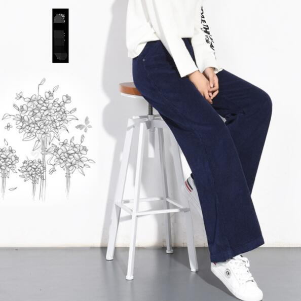 2020 Autumn Winter Corduroy Pants High Waist Long Trousers for Women Plus Size  Pencil Pants female Pantalon Femme DV79