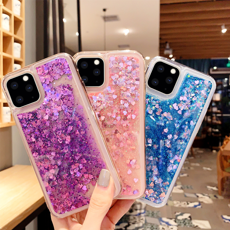 Luxury Cute Case for Apple IPhone 11 Pro Max Case Glitter Silicone  Transparent Cover for Iphone 6 6S 7 8 Plus X XR XS MAX Case