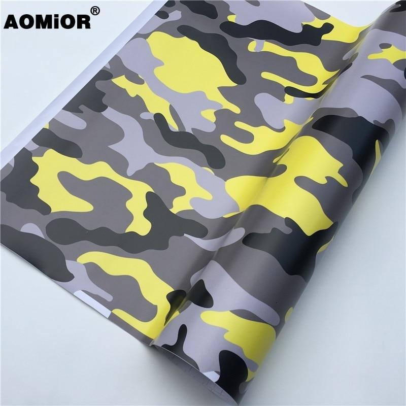 Yellow camo vinyl wrap (22)