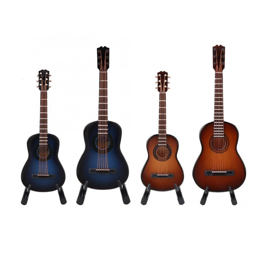 4-Styles Miniature Guitar Model-Display Craft Music-Instrument Wooden Education-Toys title=