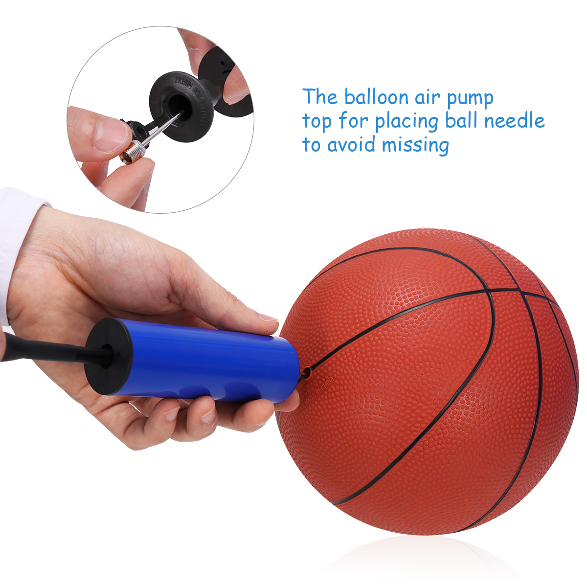 Valve Adapter Bicycle Air Pump Nozzle Sporting Ball Inflatable Needle Adapter 6p