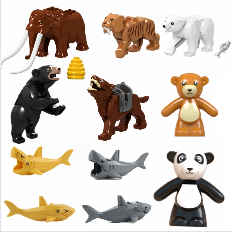 Legoing Animals Figure Toys Orangutan Sets Whale Wolf Jungle Figures New Super Heroes Model Toy For Children Gifts Legoing Dolls
