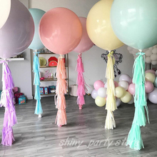 5/10/12/18/36Inch Macaron Pastel Color Balloons Large Ballon Wedding Decor Birthday Party Globos Latex Round Inflatable balloon