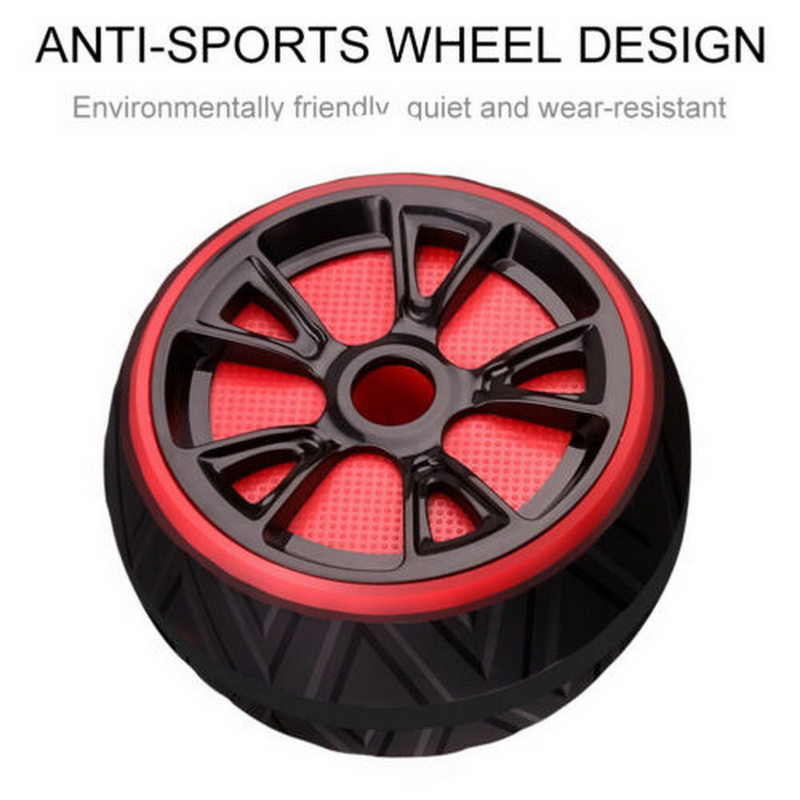 Tire - Best Large Silent Abdominal Wheel Roller Trainer Fitness Equipment Gym Indoor Home Exercise Body Building ABS Roller