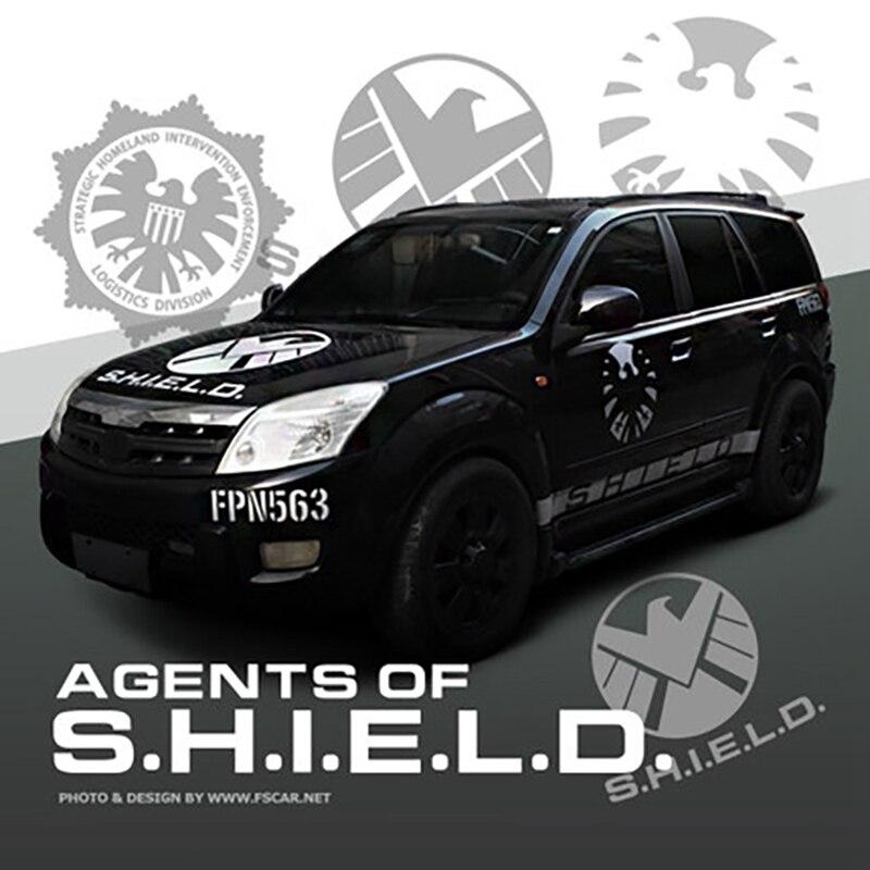 Car sticker S.H.E.L.D Vinyl Shield Engine Hood decal