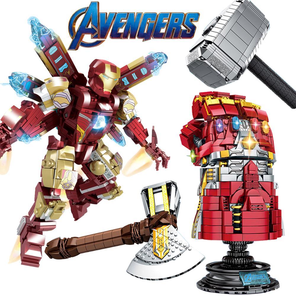 Iron-man-MK85-Kid-toys-edcation-model-toys-Marvel-Avengers-Endgame-Super-Heroes-Model-building-block