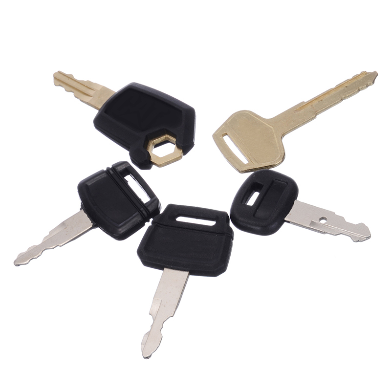 5pcs Excavator Keys Set Excavator Ignition Start Key Switch Starter Digger for Caterpillar Hitachi Kobelco Komatsu Kubota Dozer