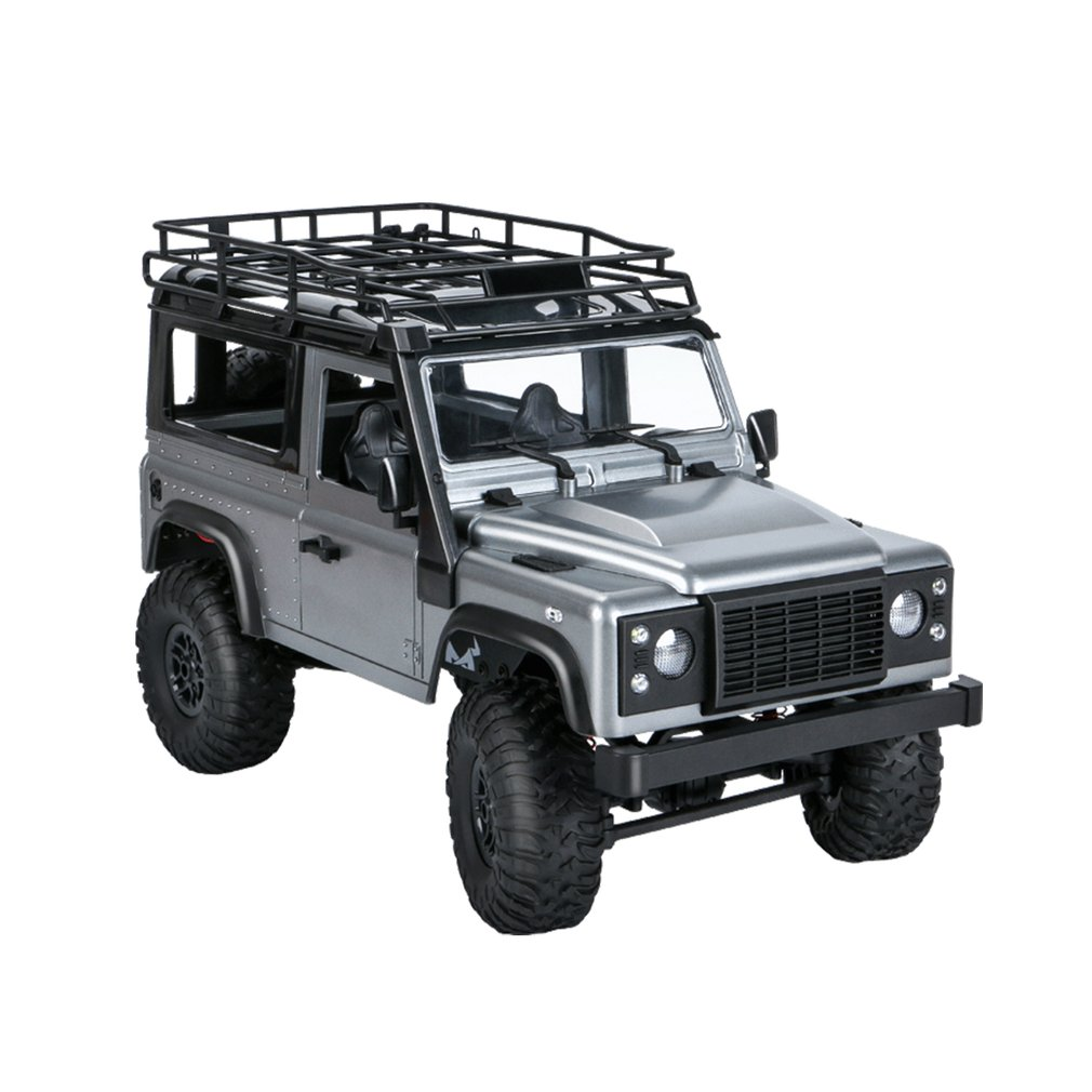 Roof Rack - 2.4G Four-wheel Drive Climbing Vehicle 4WD Rechargeable Battery Crawler 1/12 LED Lights Vehicle Off Road RC Car