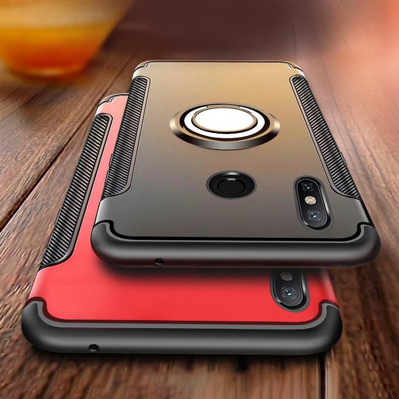 Armor Magentic Phone Case For Xiaomi Redmi Note 7 Case Silicone Cover Redmi 6 Pro 4A 4X 5A Prime 5 Plus 3 6A S2 Y2 Car Ring Case