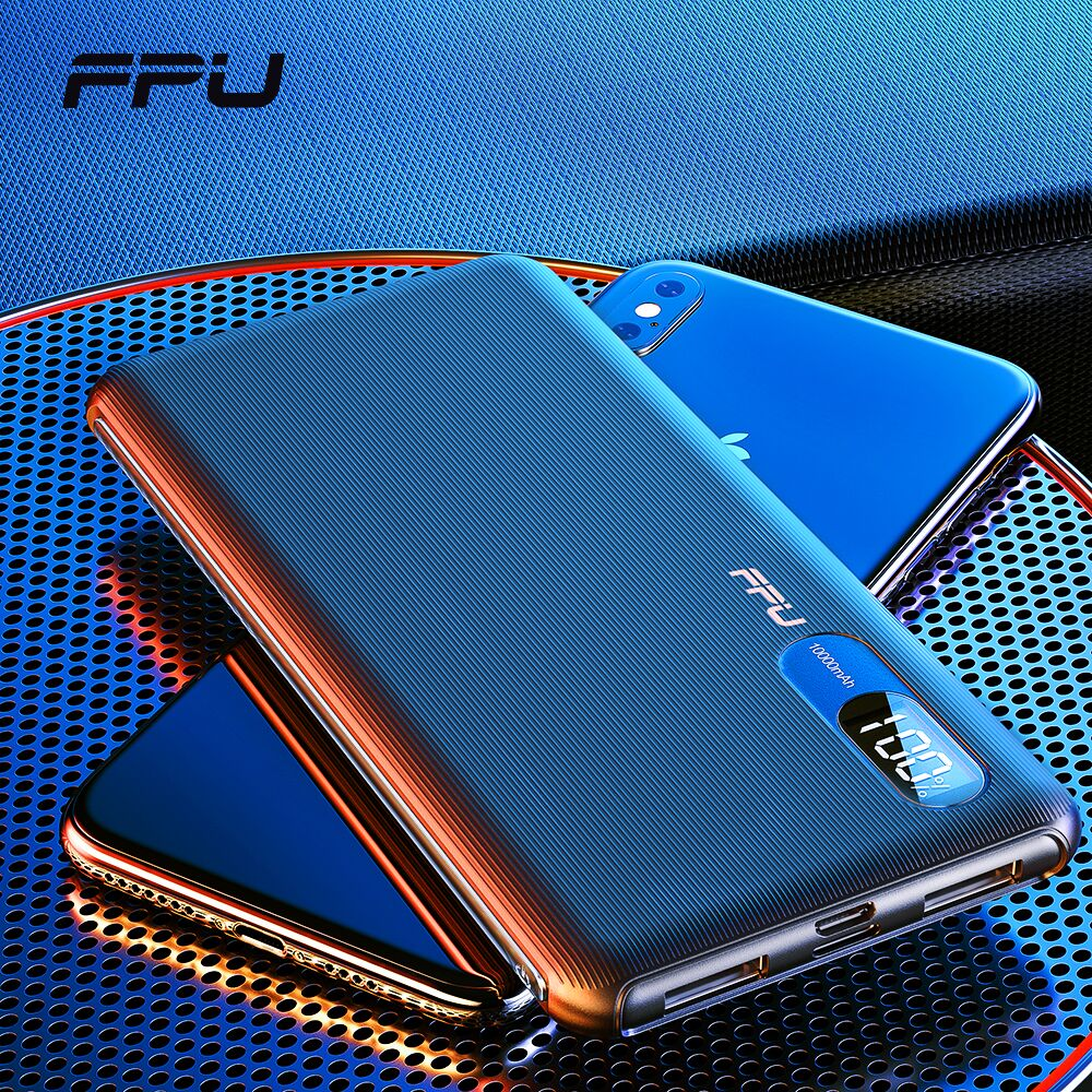 FPU Power Bank 10000mAh Portable Charger PowerBank 10000 mAh Slim USB PoverBank Phone External Battery Charging For Xiaomi mi 9 title=