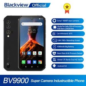 Blackview BV9900 Helio P90 Восьмиядерный 8 Гб 256 ГБ 5,84 ''FHD + IP68 водонепроницаемый прочный смартфон 4380 мАч 48MP четырехъядерный телефон с задней камерой