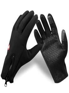 Touchscreen Glove Anti-Slip Tactico Warm Black Winter Men Women Windproof Breathable