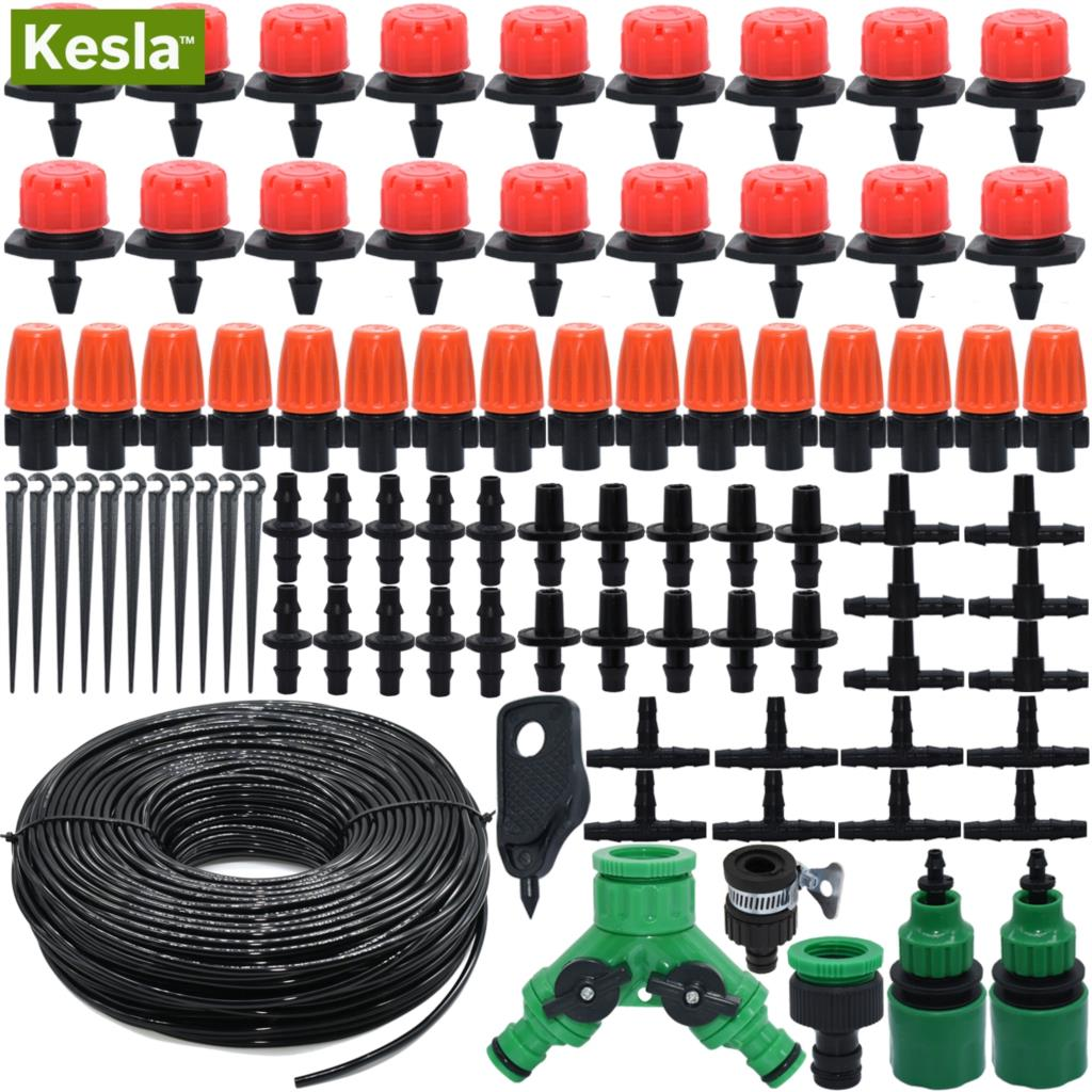 Automatische Bewässerungssystem Micro Drip Beregnung Kit Garten Gewächshaus 10M