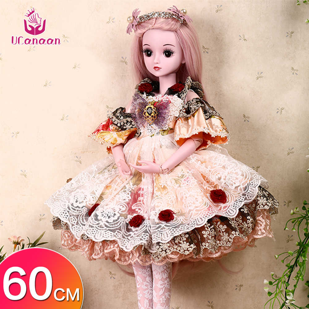 1//3 BJD Doll With 19 Ball Jointed Dolls Clothes Outfit Shoes Makeup Wig Full Set