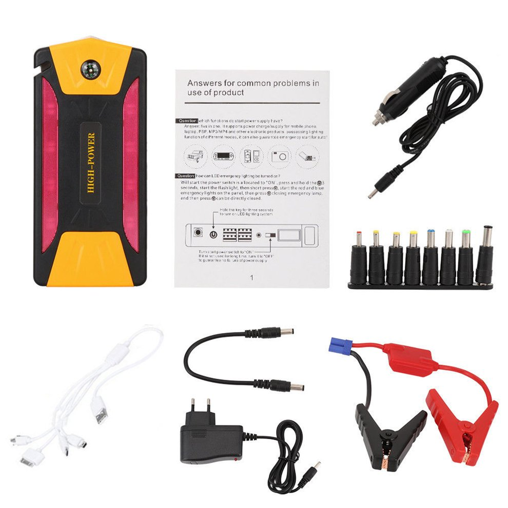 Jump Starter Battery-Set Power-Bank Emergency-Charger-Booster Eu-Plug Auto-Engine-Car title=