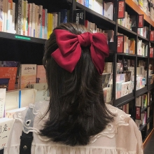 Fashion Ribbon Hairgrips Big Large Bow Hairpin For Women Girls Satin Trendy Ladies Hair